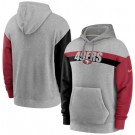 Men's San Francisco 49ers Gray Heathered Heritage Tri Blend Pullover Hoodie