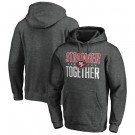 Men's San Francisco 49ers Heather Charcoal Stronger Together Printed Pullover Hoodie 0796
