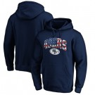 Men's San Francisco 49ers Navy Banner Wave Printed Pullover Hoodie 0776