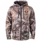 Men's San Francisco 49ers Realtree Camo Trophy Tech Fleece Full Zip Hoodie