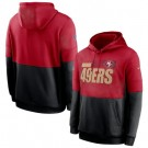 Men's San Francisco 49ers Red Black Sideline Impact Lockup Performance Pullover Hoodie