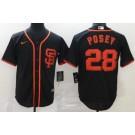 Men's San Francisco Giants #28 Buster Posey Black 2020 Cool Base Jersey