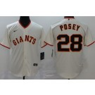 Men's San Francisco Giants #28 Buster Posey Cream 2020 Cool Base Jersey