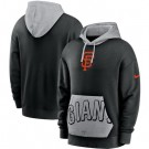Men's San Francisco Giants Black Heritage Tri Blend Pullover Hoodie