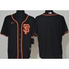 Men's San Francisco Giants Blank Black Cool Base Jersey