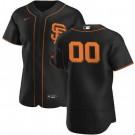 Men's San Francisco Giants Customized Black Alternate 2020 FlexBase Jersey