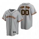 Men's San Francisco Giants Customized Gray Road 2020 Cool Base Jersey