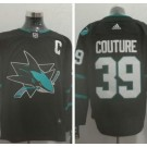 Men's San Jose Sharks #39 Logan Couture Black Authentic Jersey