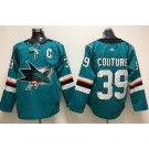 Men's San Jose Sharks #39 Logan Couture Green Authentic Jersey