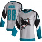 Men's San Jose Sharks #88 Brent Burns Gray 2021 Reverse Retro Authentic Jersey