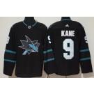 Men's San Jose Sharks #9 Evander Kane Black Alternate Jersey