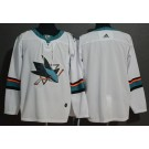 Men's San Jose Sharks Blank White Jersey