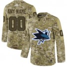 Men's San Jose Sharks Customized Camo Fashion Authentic Jersey