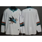Men's San Jose Sharks Customized White Authentic Jersey