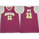 Men's Santa Clara Broncos #11 Steve Nash Red College Basketball Jersey