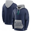 Men's Seattle Mariners Navy Heritage Tri Blend Pullover Hoodie