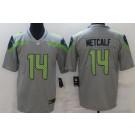 Men's Seattle Seahawks #14 DK Metcalf Limited Gray Inverted Vapor Untouchable Jersey