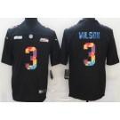 Men's Seattle Seahawks #3 Russell Wilson Limited Black Crucial Catch Vapor Untouchable Jersey