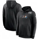 Men's Seattle Seahawks Black Crucial Catch Sideline Performance Pullover Hoodie