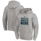 Men's Seattle Seahawks Gray 2020 NFL Playoffs Bound Shift Pullover Hoodie
