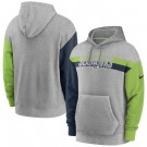 Men's Seattle Seahawks Gray Heathered Heritage Tri Blend Pullover Hoodie
