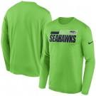 Men's Seattle Seahawks Green ideline Impact Legend Performance Long Sleeves T Shirt 630