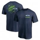 Men's Seattle Seahawks Iconic Retro Diamond Scroll Printed T-Shirt 0939