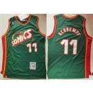 Men's Seattle Sonics #11 Detlef Schrempf Green 1995 Throwback Swingman Jersey