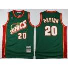 Men's Seattle Sonics #20 Gary Payton Green 1995 Throwback Swingman Jersey