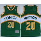 Men's Seattle Sonics #20 Gary Payton Green Throwback Swingman Jersey
