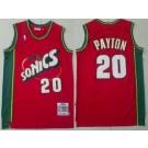 Men's Seattle Sonics #20 Gary Payton Red 1995 Throwback Swingman Jersey