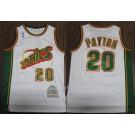 Men's Seattle Sonics #20 Gary Payton White 1995 Throwback Swingman Jersey