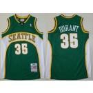 Men's Seattle Sonics #35 Kevin Durant Green 2007 Throwback Swingman Jersey