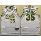 Men's Seattle Sonics #35 Kevin Durant White Throwback Swingman Jersey