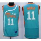 Men's Semi Pro Flint Tropses #11 Ed Monix Aqua Basketball Jersey