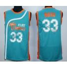 Men's Semi Pro Flint Tropses #33 Jackie Moon Aqua Basketball Jersey