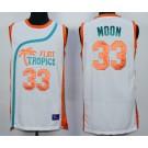 Men's Semi Pro Flint Tropses #33 Jackie Moon White Basketball Jersey