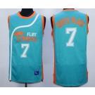 Men's Semi Pro Flint Tropses #7 Coffe Black Aqua Basketball Jersey
