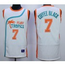 Men's Semi Pro Flint Tropses #7 Coffe Black White Basketball Jersey