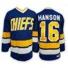 Men's Slap Shot Charlestown Chiefs #16 Jack Hanson Brothers Navy Hockey Jersey