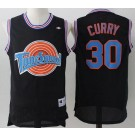 Men's Space Jam Tune Squad #30 Stephen Curry Black Basketball Jersey