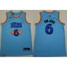 Men's Space Jam Tune Squad #6 Lebron James Blue 2021 Basketball Jersey