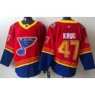 Men's St Louis Blues #47 Torey Krug Red 2021 Reverse Retro Authentic Jersey