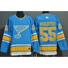 Men's St Louis Blues #55 Colton Parayko Light Blue Alternate Authentic Jersey