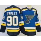 Men's St Louis Blues #90 Ryan O'Reilly Blue Authentic Jersey