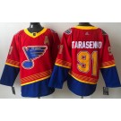 Men's St Louis Blues #91 Vladimir Tarasenko Red 2021 Reverse Retro Authentic Jersey