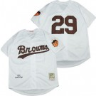 Men's St Louis Browns #29 Satchel Paige White 1953 Throwback Jersey