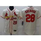 Men's St Louis Cardinals #28 Nolan Arenado Cream FlexBase Jersey