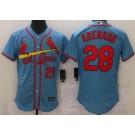 Men's St Louis Cardinals #28 Nolan Arenado Light Blue FlexBase Jersey