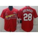 Men's St Louis Cardinals #28 Nolan Arenado Red Cool Base Jersey